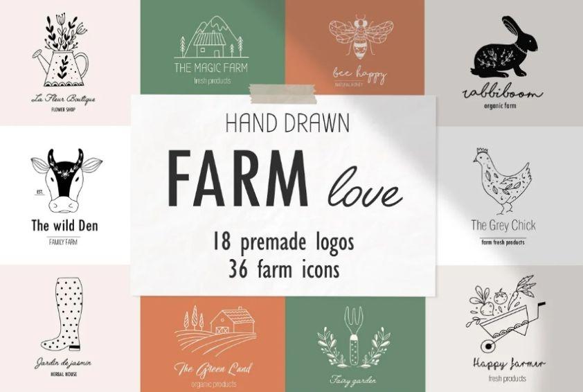 Farm Love Illustration Design