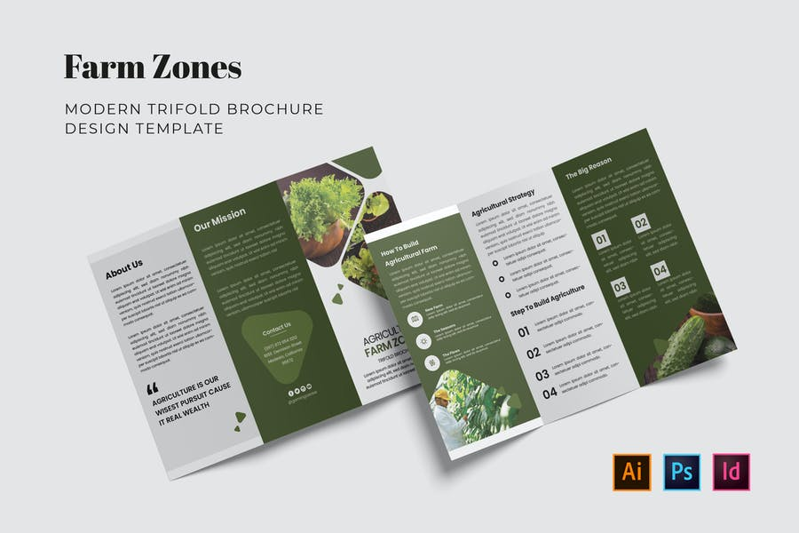 Farm Products Brochure Template