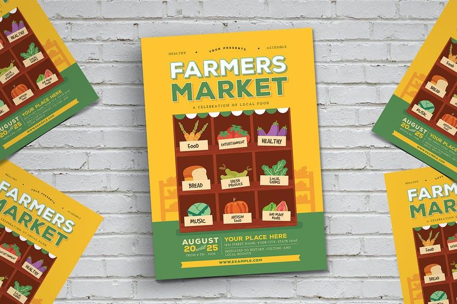 Farmers Market Flye Templates