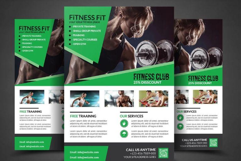 Fitness Center Flyer Design