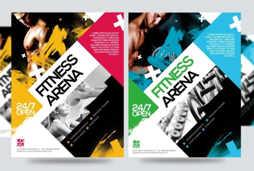 Fitness Mania Flyer Designs