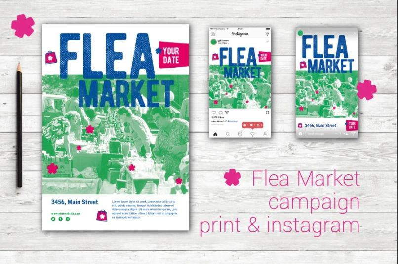 Flea Market Campaign Flyers