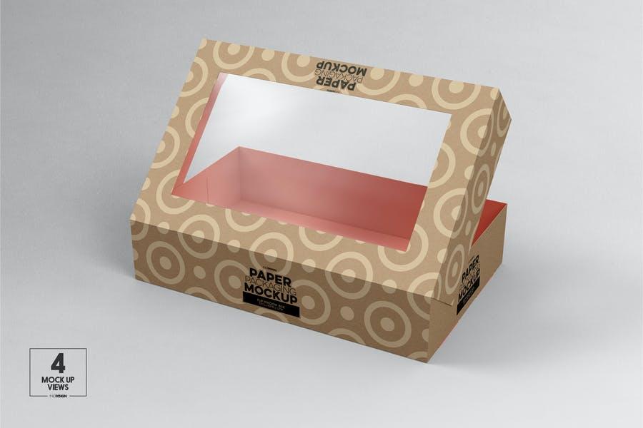 Flip Box Mockup PSD