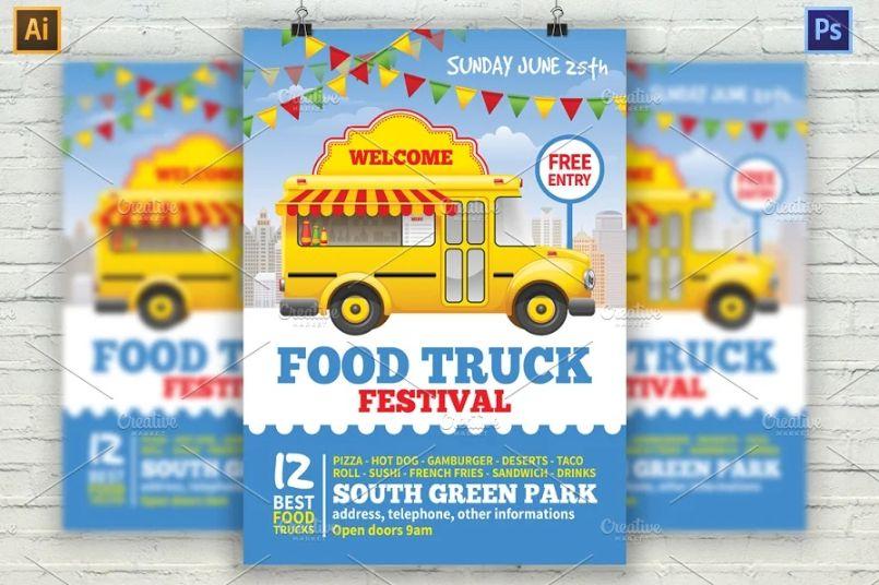 Fod Truck Festival Flyers
