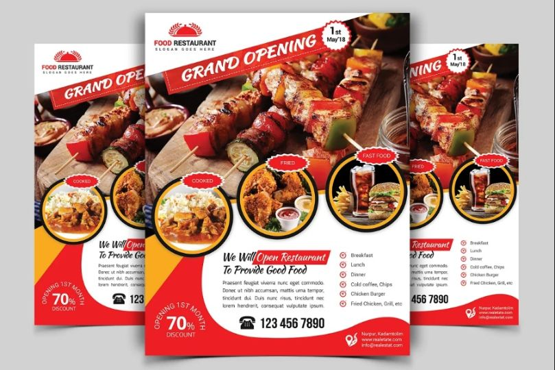 Food Restaurant Flyer templates