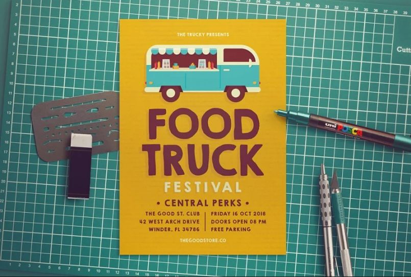 Food Truck Event Flyer Template