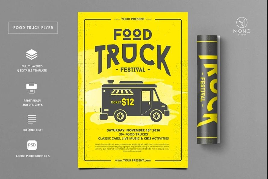 21+ Free Food Truck Flyer Templates Download