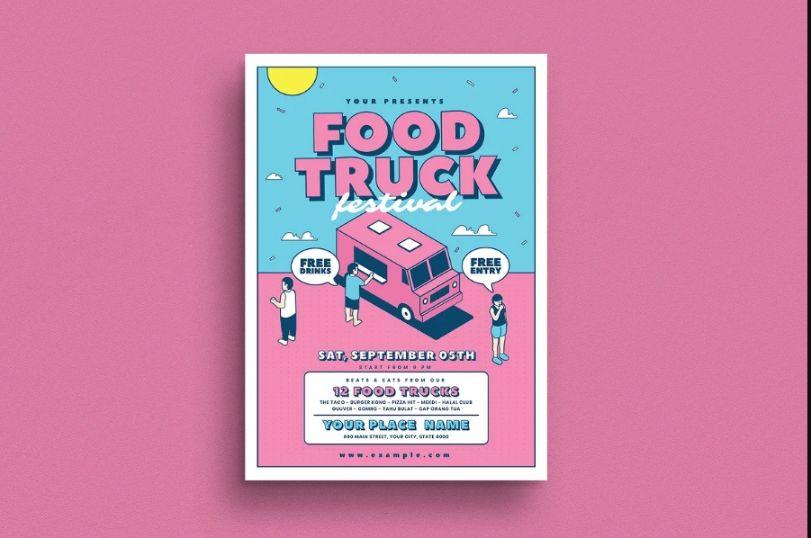 Foof Truck Vector Flyer
