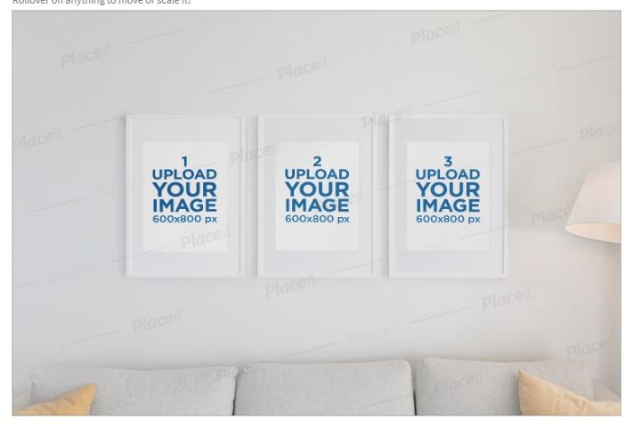Frame Wall Mockup PSD