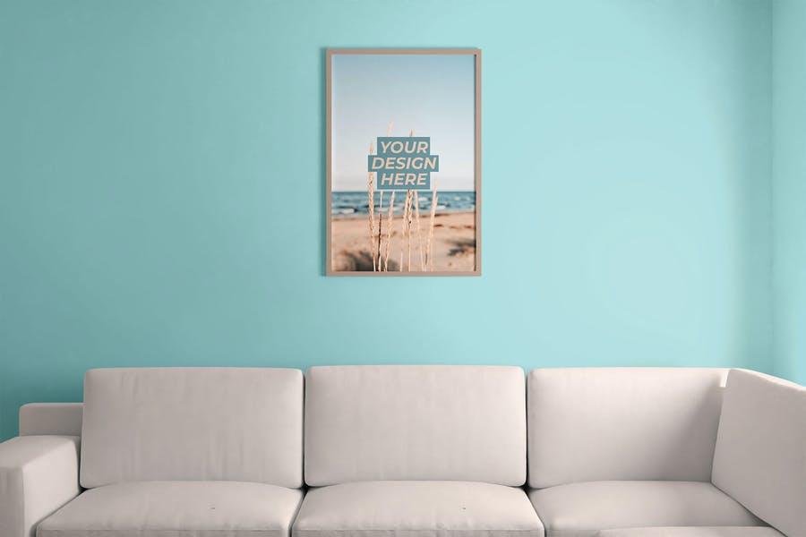 Frame on Wall Mockup PSD