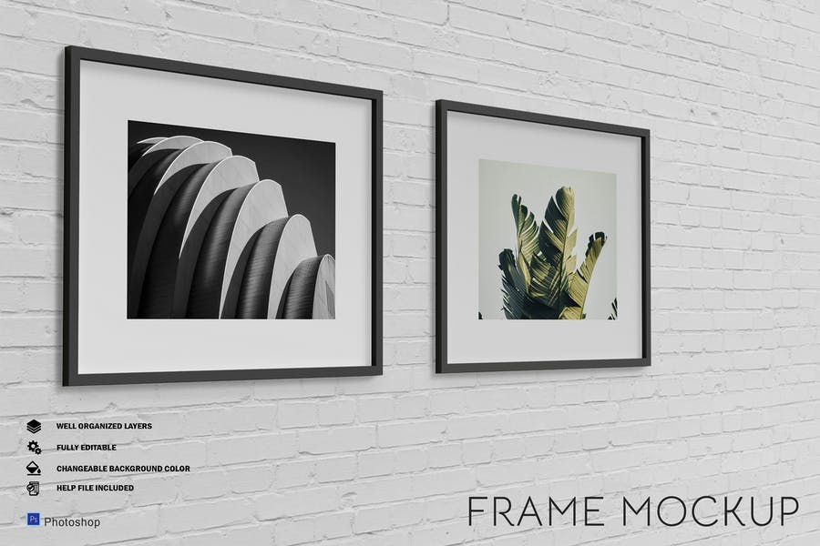 Framed Poster Mockup PSD