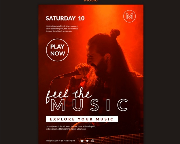 Free A4 and A5 Music Poster