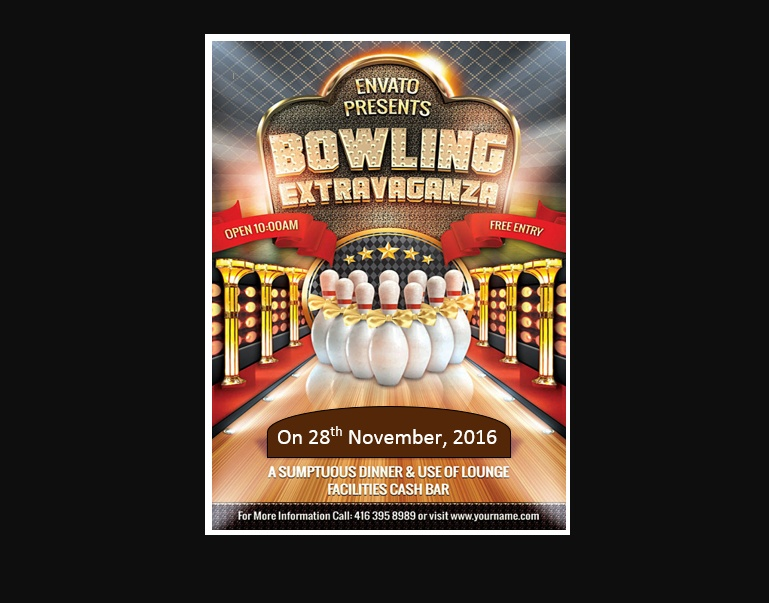 Free Bowling Night Flyer Download