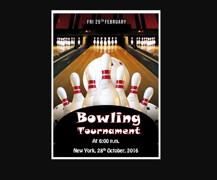Free Bowling Tournament Flyers