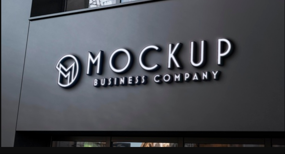 Free Business Entrance Sign Mockup