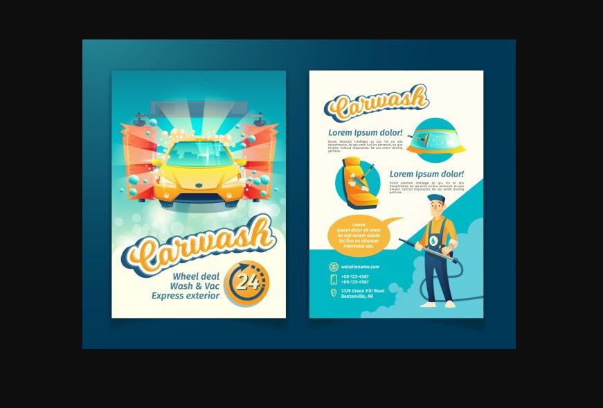 Free Car wash Flyer Templates