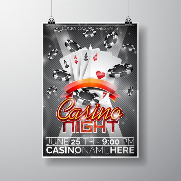 Free Casino Night Poster