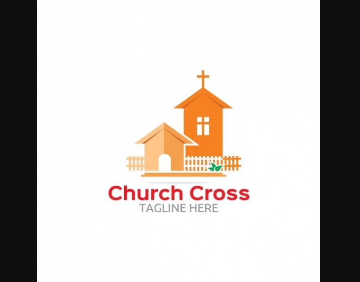 Free Church Cross Logo Design