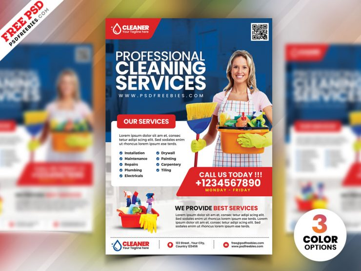 25+ Free Cleaning Services Flyer Templates Download