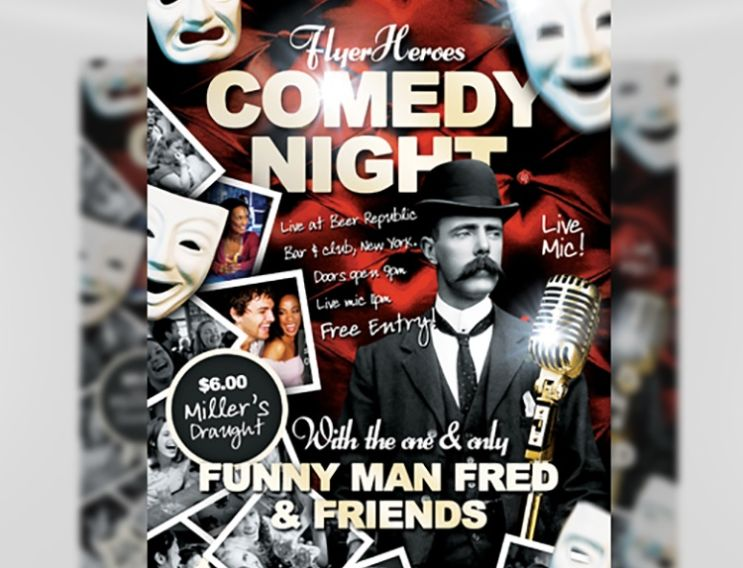 Free Comedy Flyer Template