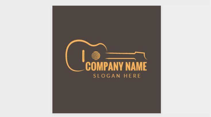 Free Cusromizable Guitar Logo