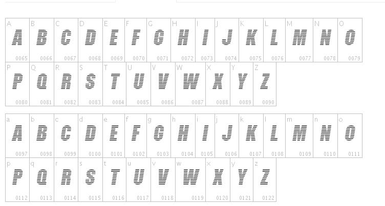 Free Decorative Striped Fonts