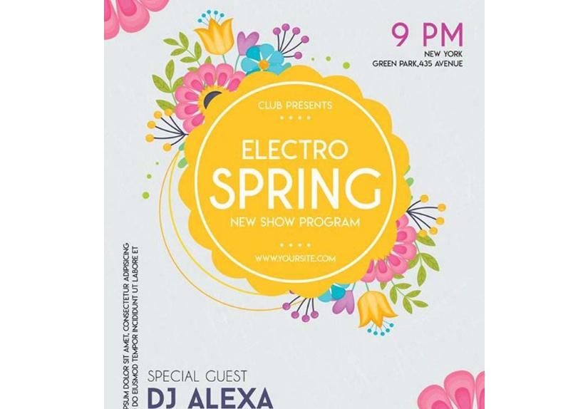 Free Electro Spring Flyer