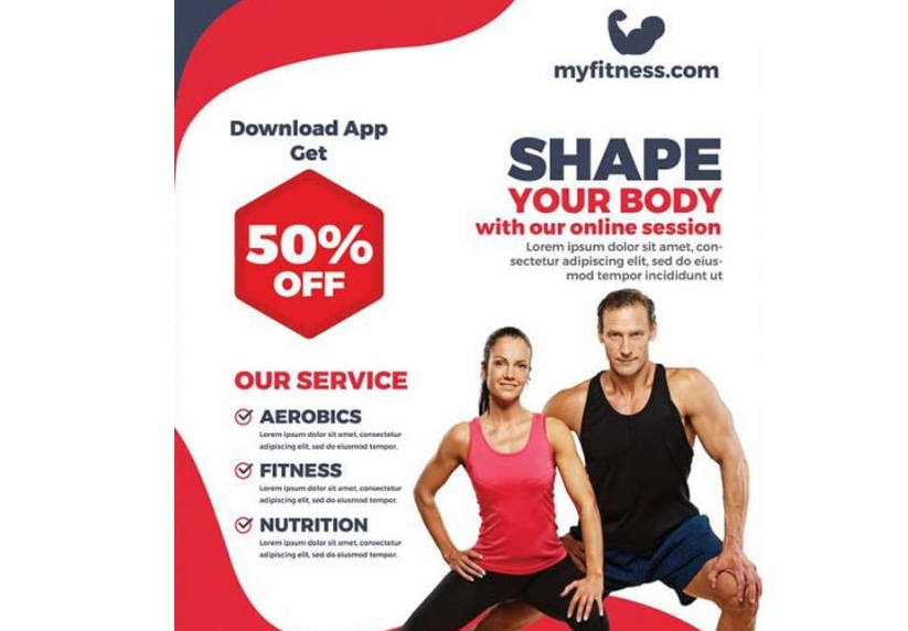 Free Fitness Promotional Flyer