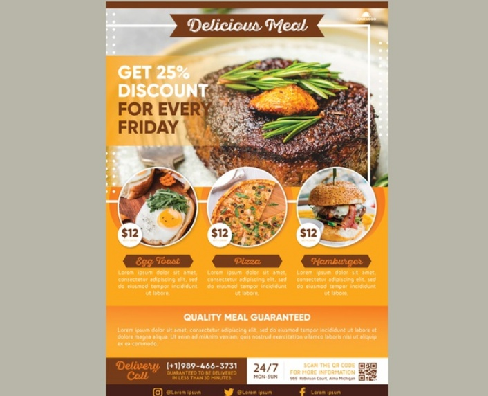 Free Food Promotional Flyer