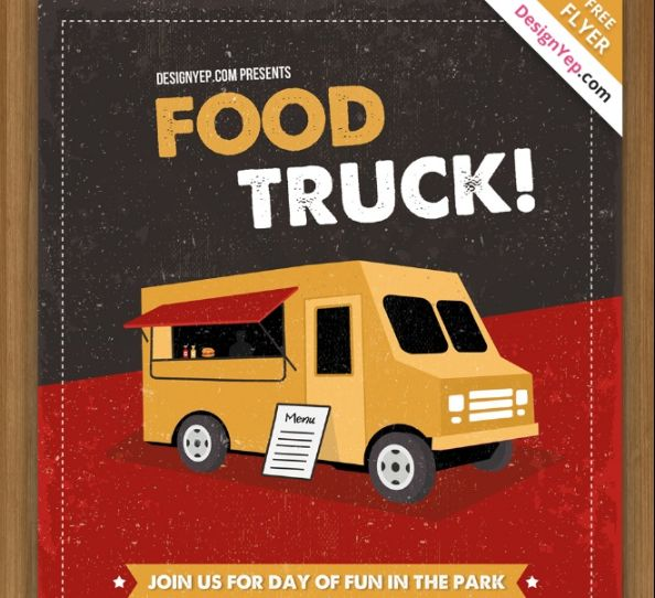 Free Food Truck Ad Flyer
