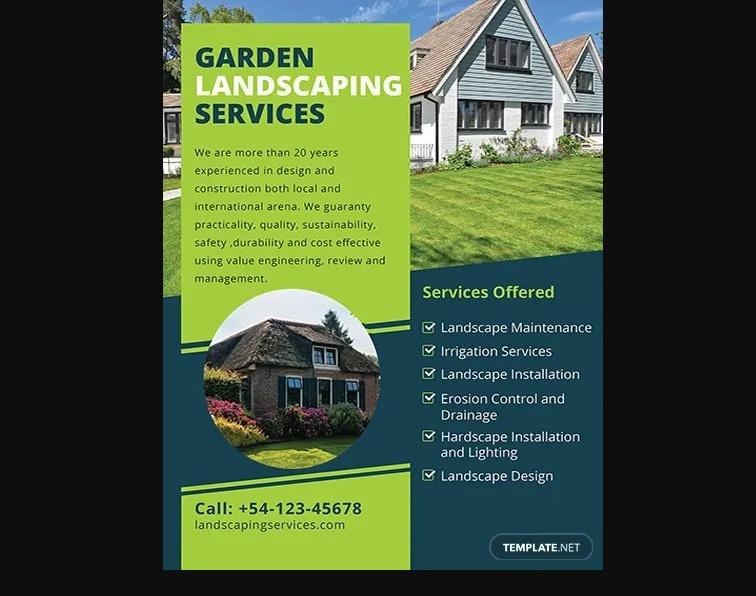 Free Gardening Services Flyer Download