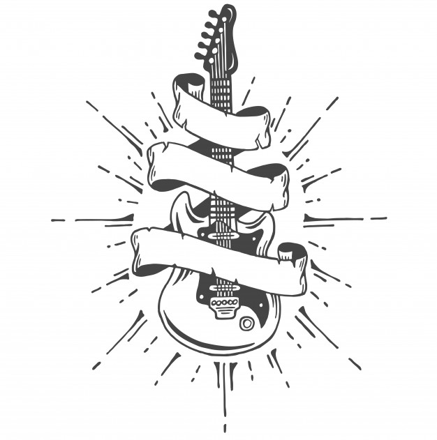 Free Guitar Emblem