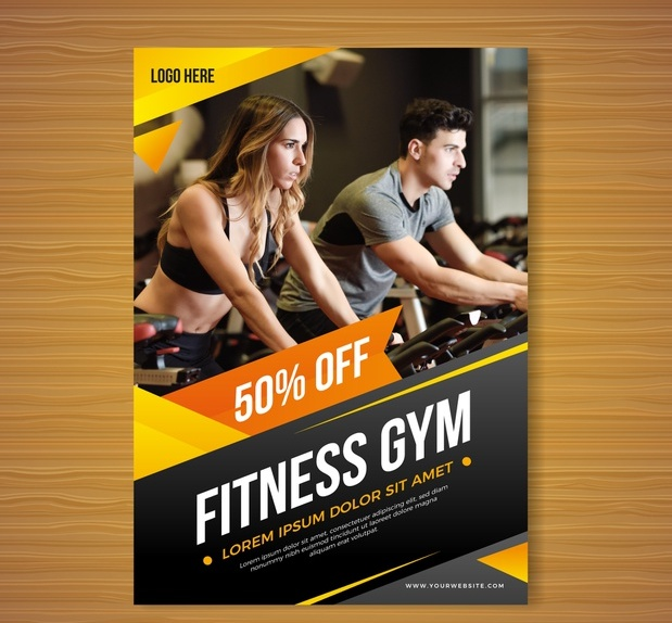 Free Gym Promotional Flyer