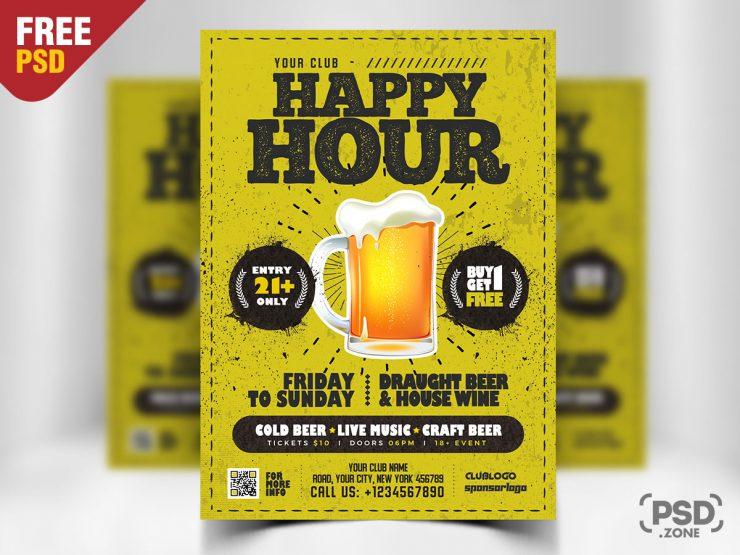 Free Happy Hour Ad Flyer