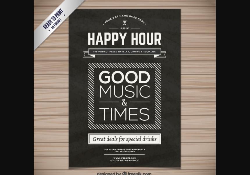 Free Happy Hour Flyer