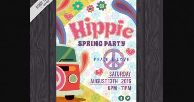 Hippies Music Flyer Template