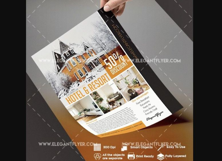 Free Hotel Flyer Templates PSD