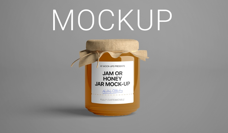 Free Jam Bottle Mockups