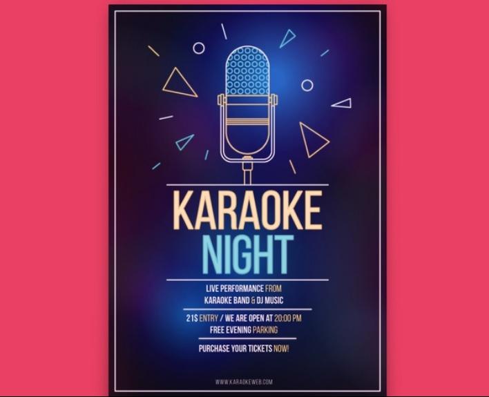 Free Karaoke Flyer Download