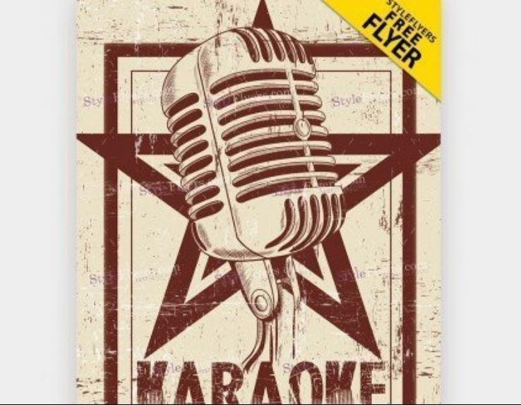 Free Karaoke Night Flyer