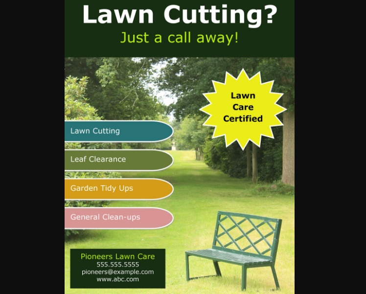 Free Lawn Care Flyer Download