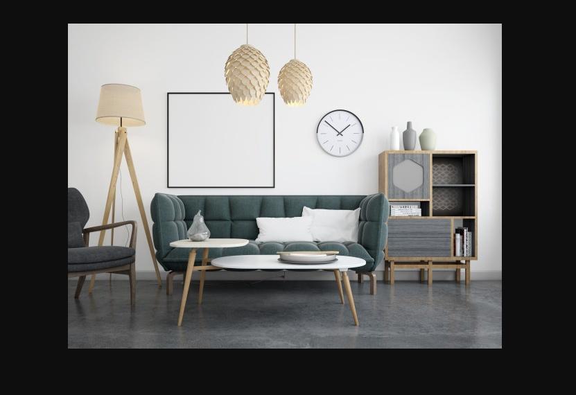 Free Living Room Mockup PSD