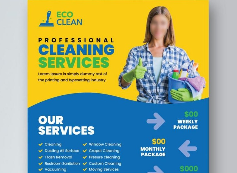 Free Professional Washing Services Flyer