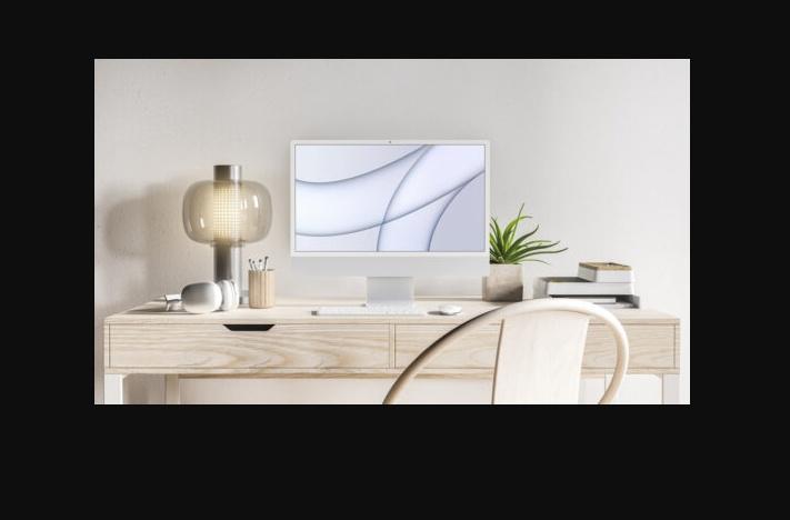 Free Realistic Desktop Mockup