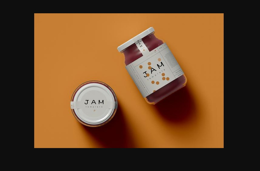 Free Realistic jam Mockups