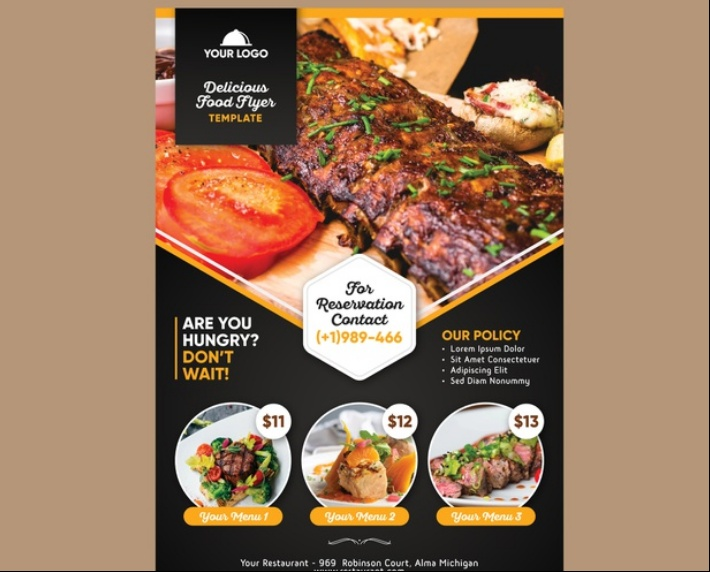 Free Restaurant Flyer Template