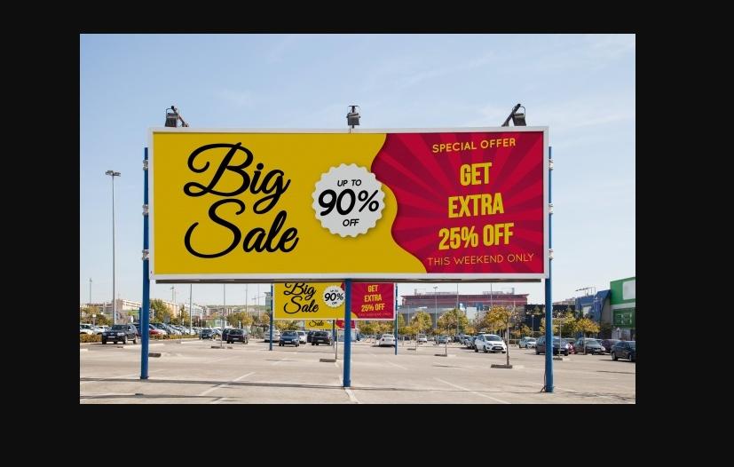 Free Sale Billboard Mockup