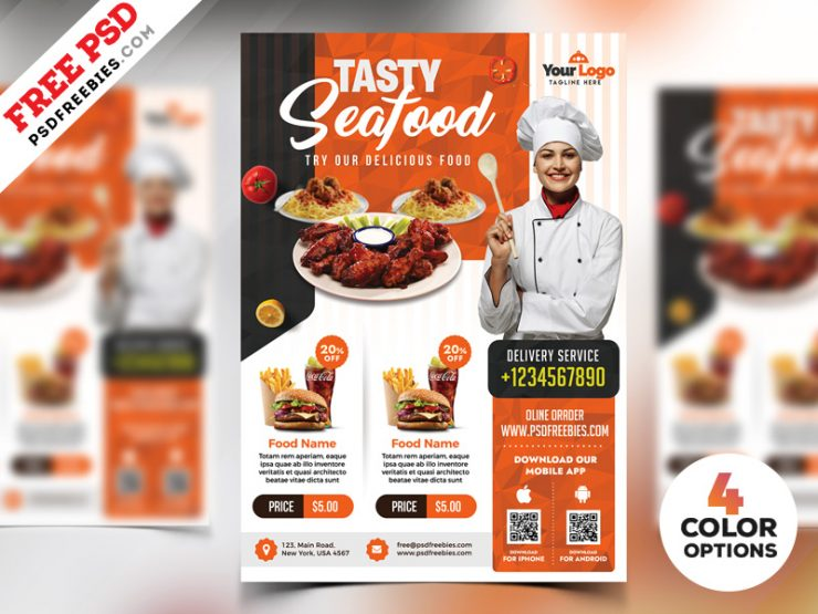 Free Seafood Flyer Templates
