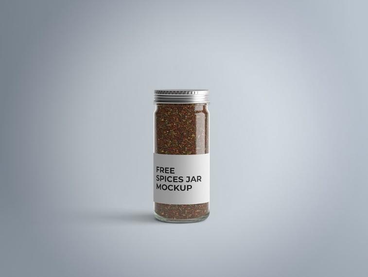 Free Spices Jar Mockup PSD