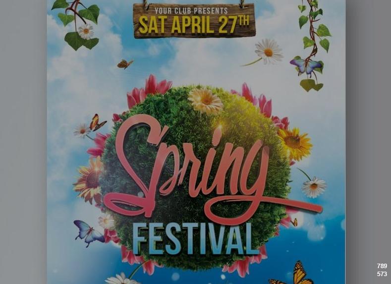 Free Spring Festival Poster